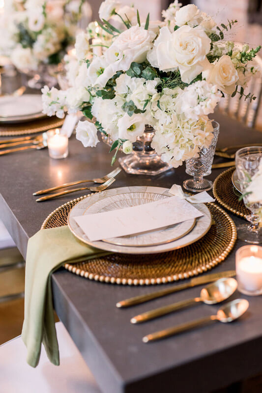 Laced with Grace Events - Houston Wedding Planner_01 Floral Placesetting