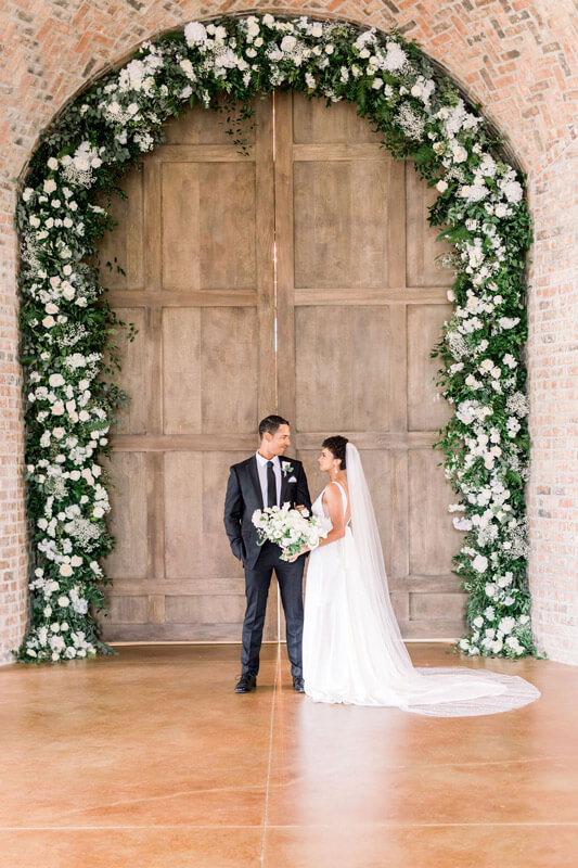 Laced with Grace Events - Houston Wedding Planner_05 Floral Arch Doorway